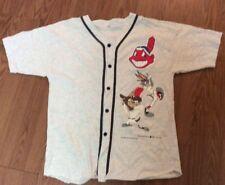 BASEBALL 1994 Cleveland Indians VTG Warner Brothers  Cartoon MLB Baseball Shirt