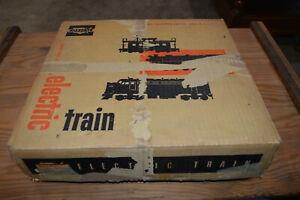 Marx Postwar Kansas City Southern Diesel Type Electric Train Freight Set in OB