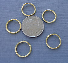 50 pcs Gold color Open Jump Rings Connector 16 mm jewelry findings connector DIY