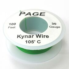 100' Page 30AWG GREEN KYNAR Insulated Wire Wrap Wire 100 Foot Roll ~ Made In USA