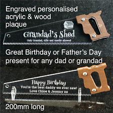 Personalised Fathers Day Birthday Christmas Gift Dad Daddy Grandad Him Saw