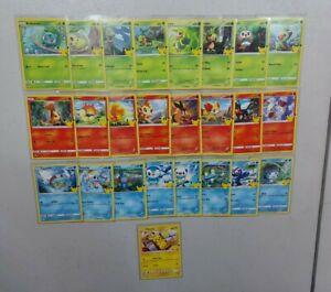 Full Set 25 POKEMON CARDS 2021 McDonald Happy Meal 25th Non Holo w/ Pikachu