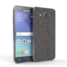 Schutz Hülle für Samsung Galaxy J5 (2015) Glitzer Cover Handy Case Anthrazit