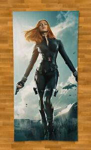 """Scarlett Johansson Towel Beach 55"""" Summer Bath Gym Sexy Black Widow"""