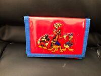 Vintage DISNEYLAND Tri-Fold Kids Wallet  - Mickey Goofy Donald Pluto