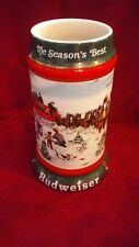 BUDWEISER 1991 HOLIDAY BEER STEIN LMTD EDITION. COLLECTIBLE 'THE SEASON'S BEST'