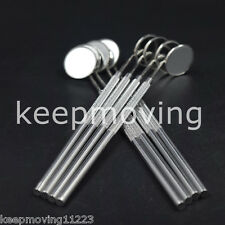 10 Pcs Dental Stainless Steel Mouth Mirror With 4# Reflector Handle Instrument