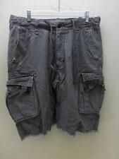 HOLLISTER by Abercrombie gray CARGO Shorts board bermuda cut off look mens sz 30