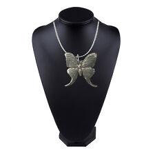 Luna Moth Pewter Emblem on a 18 inch platinum chain necklace jewelry codeUS137
