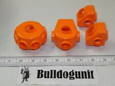 Vintage Tomy Popoids Colossal Cosmic Set 4 Orange Small Pod Connectors Part Only