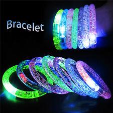 5Pcs Light-Up Acrylic Bracelet Wristband LED Flashing Glow Blinking Rave Wear