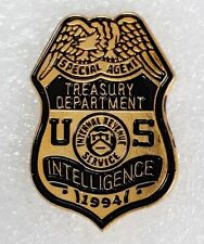 special agent treasury department intelligence in United States lapel pin badge