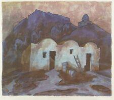 KLAUS DRECHSLER - Tunesisches Landhaus - Farbalgrafie 2004