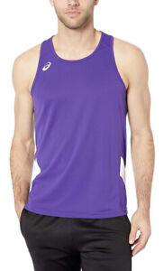 ASICS Men's Team Sweep Singlet Top, Purple & White, Sz 3XL