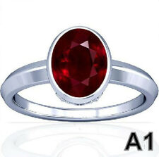 5-11 CT African 100% Natural Vedic Ruby Streling Silver Awesome Quality Ring A1