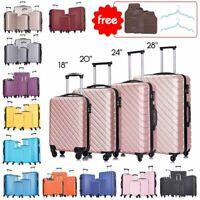 """18""""20""""24""""28"""" 4 Piece Set-Luggage ABS Light Travel Case Hardshell Suitcase w/Lock"""
