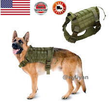 US K9 Tactical Training Dog Harness Military Adjustable Molle Nylon Vest Handle