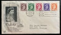 1954 Ottawa Canada First Day Cover FDC Queen Elizabeth II Stamp Issue