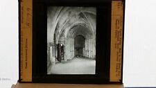 Hall in the Keep, Castle Rising, England, 1910, Magic Lantern Glass Slide