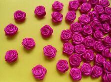 """3/8"""" (W) Shocking Pink Ribbon Roses-Lots of 100 pcs (R0030S)"""