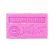 Savon Marseille parfumé Framboise huile argan bio 100g