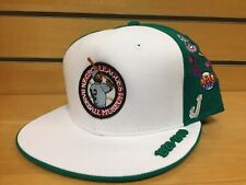 7 3/4 New NWT Negro League Museum Fitted Baseball Cap Hat Green White Team Logos