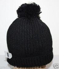 Gap NWT Women's Girl's Black Chunky Ribbed Winter Hat Cap w/ Fuzzy Pom Pom