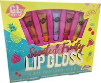 5 Scented Luscious Fruity Lip Gloss - Gift Set Girls Beauty Make up Kit R03-0069