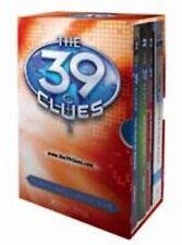 NEW 39 Clues Boxed Set Book 1 2 3 Card Pack Maze of Bones False Note Sword Thief