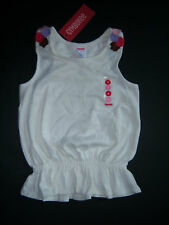 NWT Gymboree Glamour Safari Flower Racer Back Tank 4 4T