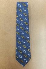 Ichthys Christian Fish Symbol Tie - Navy Blue Patterned Religious Necktie