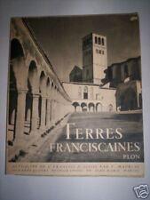 TERRES FRANCISCAINES ST FRANCOIS D' ASSISE / PLON 1950