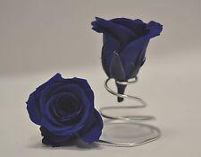 FIORI  E PIANTE ARTIFICIALI  Rose blu disidratate stabilizzate -  6pz