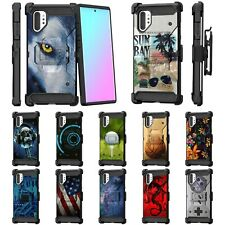 For Samsung Galaxy Note 10+ Plus (6.8) Full Body Armor Rugged Holster Clip Case