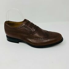 Abeo Bio System Wing Tip Mens Dress Shoes Size 9.5 Lace Up Leather Brown