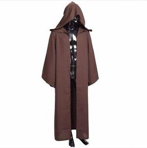 Jedi Knight Darth Vader Adult Obi Wan Cloak Robe US SELLER Black Brown Wars Star
