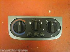 VAUXHALL CORSA C HEATER BLOWER CONTROL SWITCH PANEL SILVER AIR-CON 2000-2006