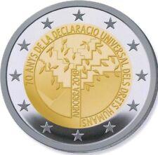 """2 Euro Gedenkmünze Andorra """"70 Jahre Deklaration der Menschenrechte"""" 2018 BU"""