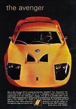 1970 1971 Fiberfab Avenger GT-12 Original Advertisement Print Art Car Ad J807