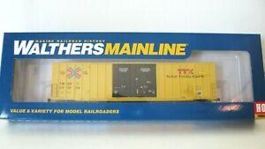 Walthers Ho Mainline 60' Gunderson Hi-Cube Boxcar#910-2970TTX/TBOX Red TTX NIB