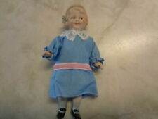 """CUTE REPRODUCTION 5 1/2""""  SHACKMAN ALL BISQUE JOINTED DOLL"""