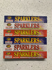 New Lot of 60 Red,White,Blue Tnt Sparklers,#8 Gold,Celebrations,July 4th,Parties