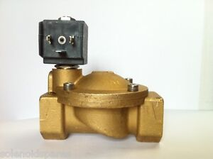 """CEME Replacement Solenoid Valves Brass CEME 1"""" BSP  Normally Closed N/C UK 8616"""