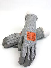 Cut Resistant Work Gloves LVL 4 Coated Palm Brass Knuckle BKCR404 SZ 9/L (2prs)