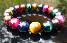 Tiger Eye Bracelet Quartz Crystal Rainbow Mixed