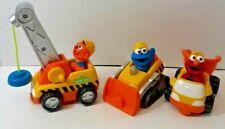 2001 Mattel Sesame Street Elmo Ernie Cookie Monster Construction Vehicles