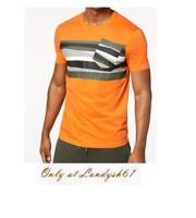 Armani Exchange Orange Khaki Logo Cotton CrewNeck Men's T-Shirt Sz 2XL Slim Fit