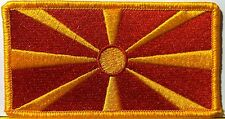 MACEDONIA  Flag Patch With VELCRO® Brand Fastener Military Emblem #6