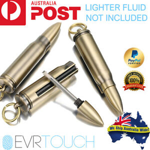 Bullet Waterproof Emergency Starter Flint Lighter Matches Camp Survival Keyring