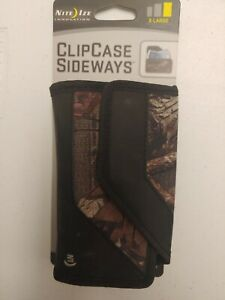 Nite Ize Clip Case Sideways Mossy Oak X-Large Rugged Nylon Phone Holster w/Clip